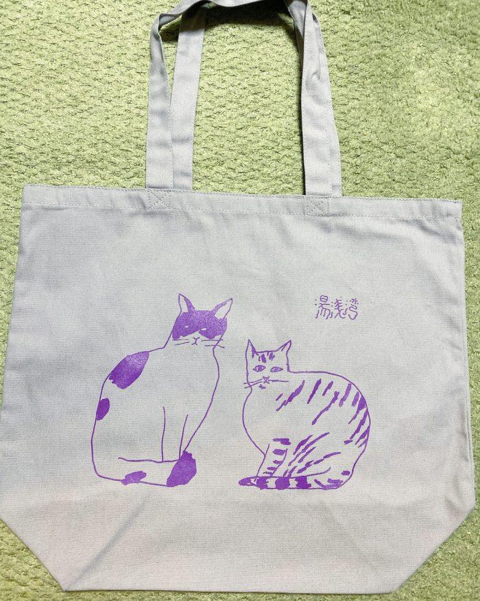 湯浅湾『脈』猫Tシャツ&トートバッグもウェブショップで販売中!